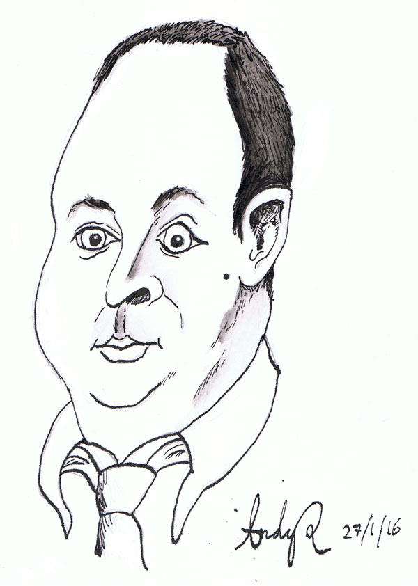 Sam Hooper Caricature